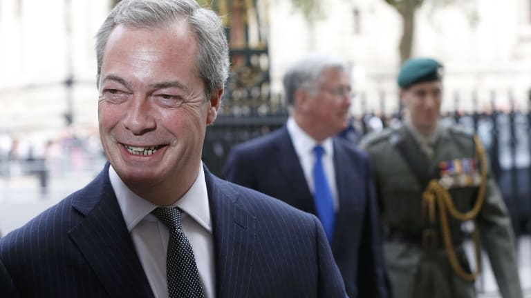 """Nigel Farage has spoken out in favour of Australia's """"turn back the boats"""" policy."""
