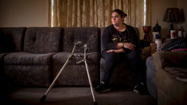 Jess King, 35, lives with cerebal palsy and a mild intellectual disability.