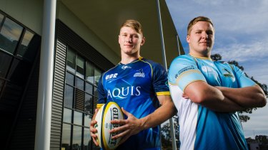 Brodie Leber and Sam Thomas are heading to Mauritius with the Brumbies 10s.