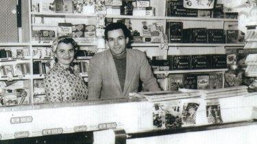 Maria Katsonis' parents in their milkbar.