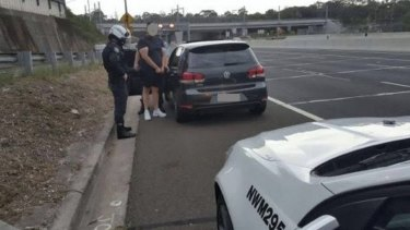 Police speak to a driver caught doing 199km/h in a 100km/h zone in Beecroft on Christmas Eve.
