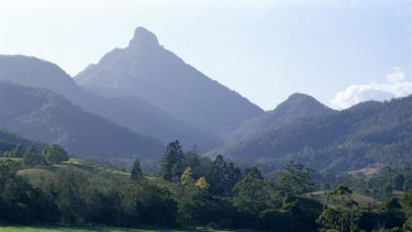 A group of campers were reportedly struck by lightning on the summit of Mount Warning on Tuesday morning.