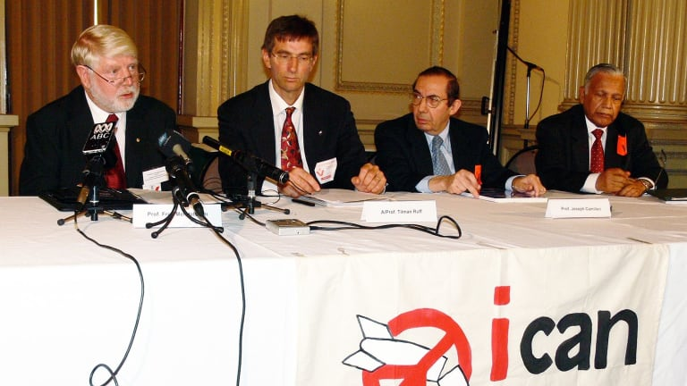 The launch of the International Campaign to Abolish Nuclear Weapons in Melbourne in 2007.