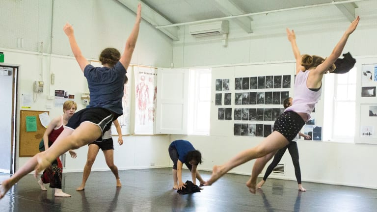 Dancers of QL2 in rehearsal for This Poisoned Sea. Photo Jenni Large