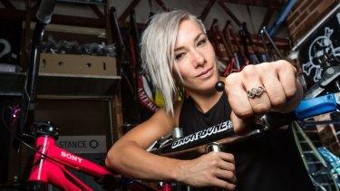 Gold medal hope: Australian BMX rider Caroline Buchanan.