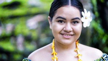 Brianna Fruean, a Pacific Climate Warrior and environmental activist from Samoa.