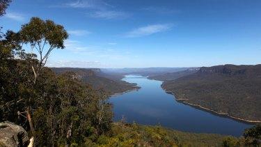 Lake Burragorang, behind Warragamba Dam, Sydney's main reservoir.