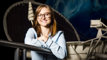 UNSW aerospace engineering student and Quberider CEO Solange Cunin at Sydney's Powerhouse Museum.