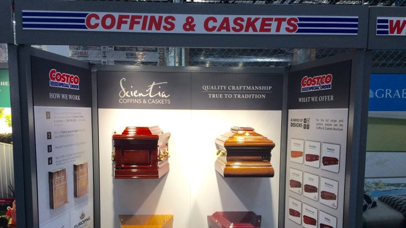 Costco starts selling cut-price coffins in Australian stores