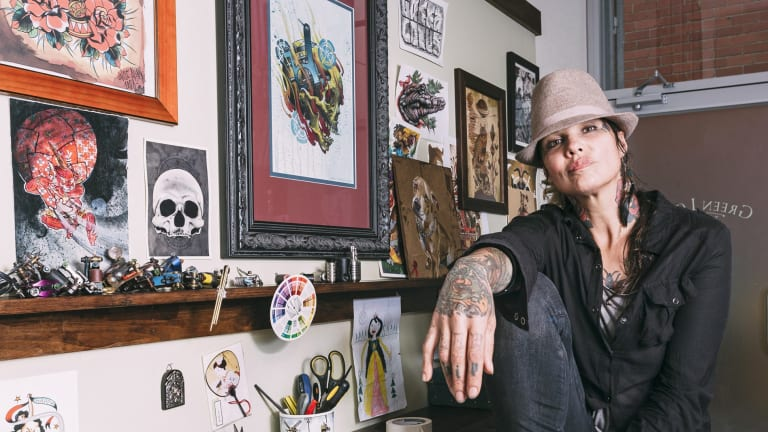 Tashi Dukanovic says tattooing can be a lucrative career.