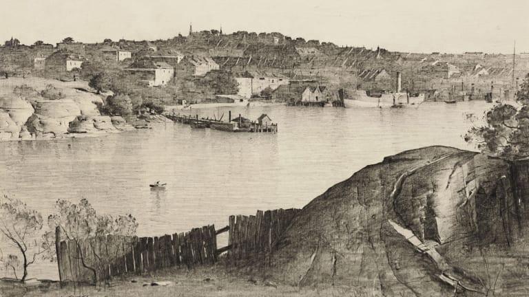 Lloyd Rees, western end of Goat Island, (1932-33).