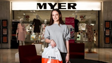 Myer at Westfield Belconnen is due to close down. 19-year-old Tessa Bailey has recently moved to Canberra and enjoys shopping at Myer. Photo: Jamila Toderas