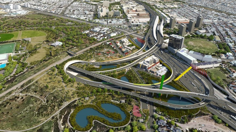 Melbourne's East West Link may be among Lend Lease's upcoming development projects.