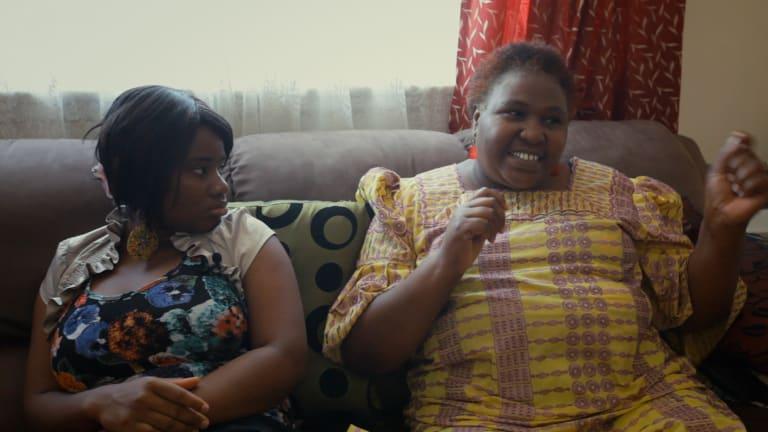 Yarrie Bangura and Rosemary Kariuki-Fyfe in <i>The Baulkham Hills African Ladies Troupe</i>.