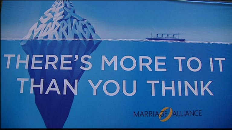 An advert by Marriage Alliance against same-sex marriage.