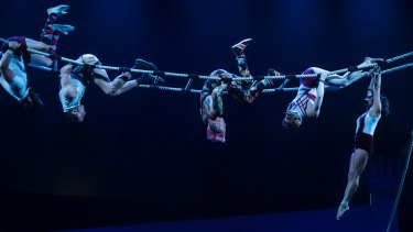 Circus Oz performers demonstrate their skills.