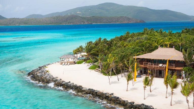 Richard Branson's Necker Island was the site for an exclusive meeting to discuss blockchain.