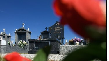 The scene of Mersina Halvagis' brutal murder, at her grandmother's grave in Fawkner Cemetery.