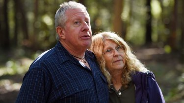 The parents of Matthew Leveson, Mark and Faye, in the Royal National Park.