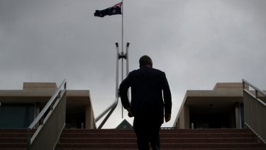 Barnaby Joyce at Parliament House in Canberra on Thursday.