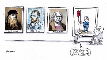 Tandberg's beginnings as a cartoonist lie in his awakening to great art.