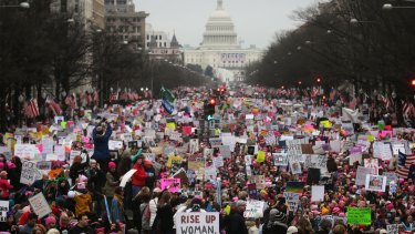 The Women's March in Washington DC the day after Donald Trump's presidential inauguration. Ali Hirsi declined to attend.