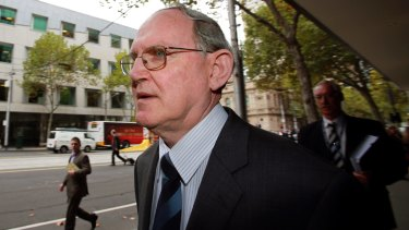 Julian Fox outside the Magistrates Court in 2013.