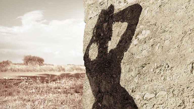 Rock Shadow (Body Remembers series) (detail) from Tracey Moffatt's My Horizon.