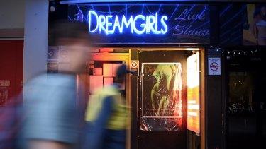 Closed: DreamGirls on Darlinghurst Road in Kings Cross.