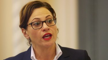 """Deputy Premier Jackie Trad says there is a """"hard deadline"""" to get the second stage of the light rail ready by the time the Commonwealth Games started in April 2018."""