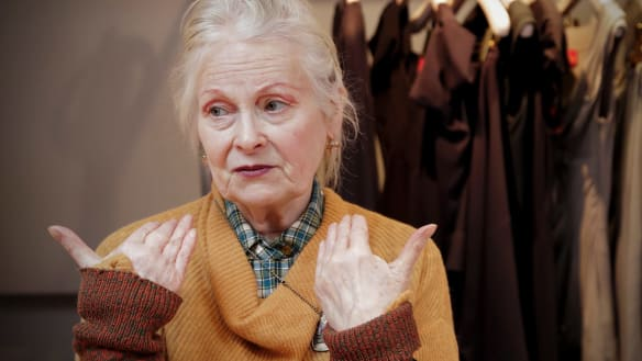Still of Vivienne Westwood from documentary