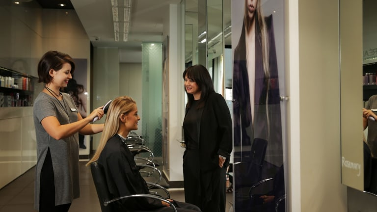Sandy Chong Right Chief Executive Of The Australian Hairdressing Council At Her