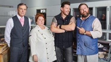 <i>The BBQ stars</i> (from left) Nicholas Hammond, Magda Szubanski, Manu Feildel and Shane Jacobson.