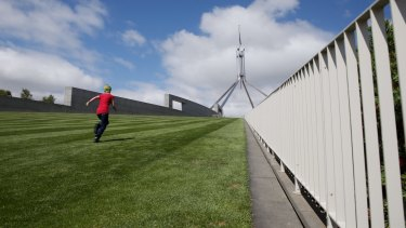 The new fence will cut across the lawns at the front of Parliament House.