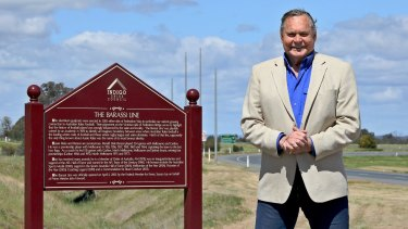 The Barassi Line: A plaque has even been erected in the town of Corowa-Wahgunyah.