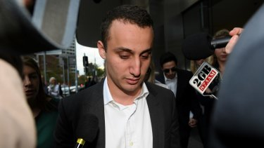Luke Lazarus leaves court in Sydney after his acquittal in May.