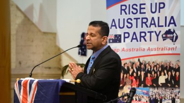 Danny Nalliah is the leader of the right-wing Rise Up Australia party.
