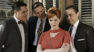 Rich Sommer (left) as Harry Crane in the 1960s drama series Mad Men.