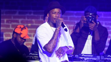 Rapper YG performing in Los Angeles last year.