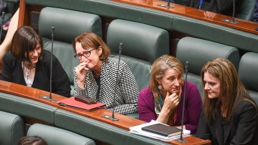 Emotional lower house MPs after the bill passed.