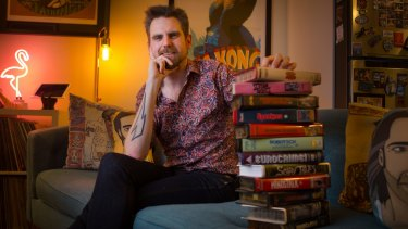 Avid VHS collector Zak Hepburn has a home library of between 400 and 500 tapes.