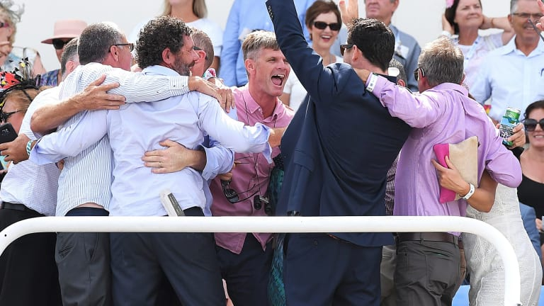 Pay day: Connections of Care To Think celebrate on the Gold Coast.