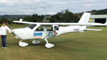 Pauline Hanson's One Nation party has been accused of buying this private plane with funds from Mr McNee without officially declaring it as a gift.