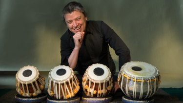 Sam Evans plays and teaches the tabla.