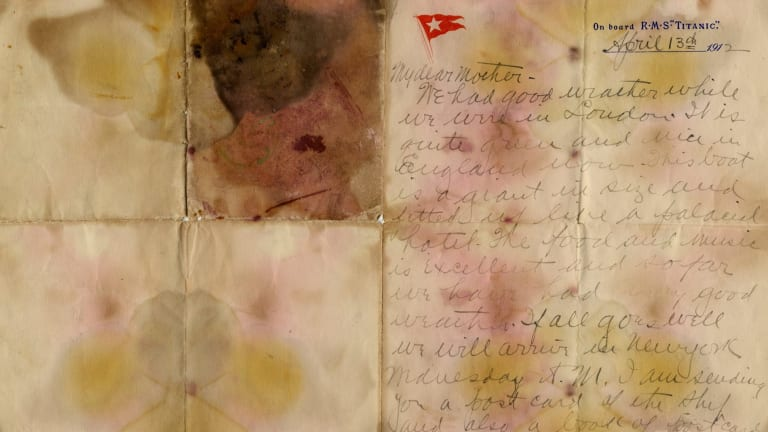 A letter written by Alexander Holversson on board tte Titanic.