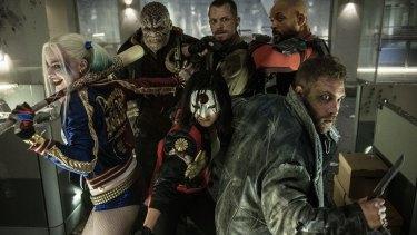 The Suicide Squad crew (from left) Margot Robbie as Harley Quinn, Adewale Akinnuoye-Agbaje as Killer Croc, Joel Kinnaman as Rick Flag, Will Smith as Deadshot, Jai Courtney as Captain Boomerang and Karen Fukuhara as Katana.