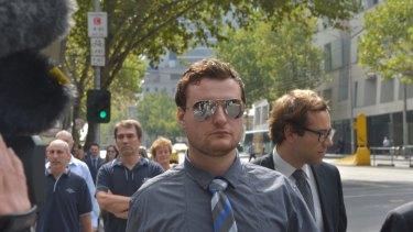 Adnan Karabegovic outside the  Melbourne Magistrates' Court in 2013.