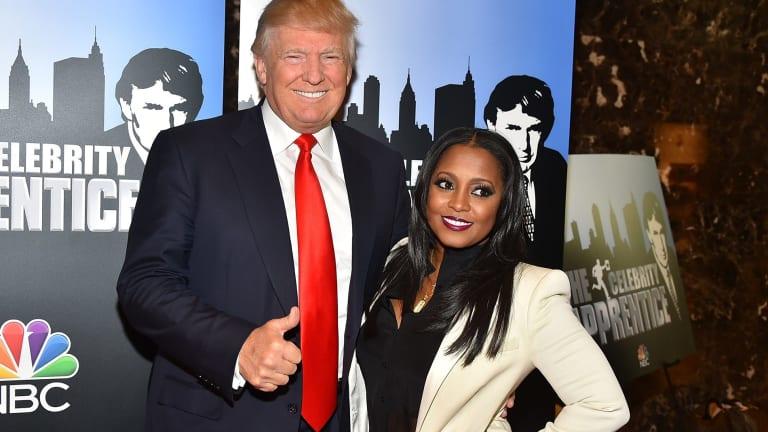 Donald Trump and Keshia Knight Pulliam at a <i>Celebrity Apprentice</i> in January.