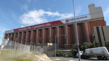 The advertising billboard at Rozelle, touted as the biggest in the southern hemisphere.