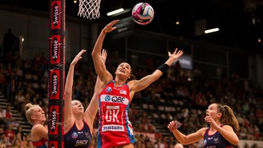 Big game: Sharni Layton is leading a young Swifts' defence.